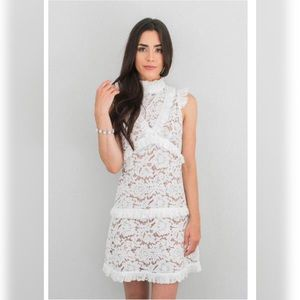 Space 46 Penny Bridal Lace Dress EUC Size M White